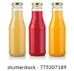 bottles of  juice isolated on... | Shutterstock . vector #775207189