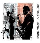 jazz in new york   vector...   Shutterstock .eps vector #775208200