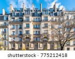 paris  beautiful haussmann... | Shutterstock . vector #775212418