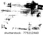 grunge texture. black and white ... | Shutterstock .eps vector #775212460