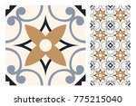 vintage patterns antique... | Shutterstock .eps vector #775215040