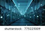 server room center exchanging... | Shutterstock . vector #775225009