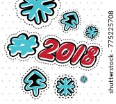 2018 lettering in the style of... | Shutterstock .eps vector #775225708