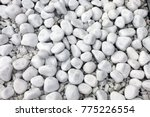 white pebble stone texture on