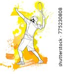 abstract tennis player with a... | Shutterstock .eps vector #775230808