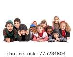 group of kids in halloween... | Shutterstock . vector #775234804