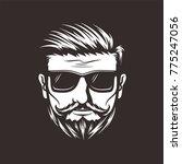 barber shop hair beard mustache ... | Shutterstock .eps vector #775247056