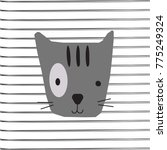 the cat on line vector