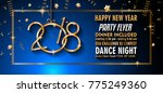 2018 happy new year background... | Shutterstock .eps vector #775249360