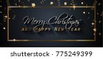 2018 happy new year background... | Shutterstock .eps vector #775249399