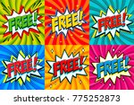 free   comic book style... | Shutterstock .eps vector #775252873