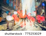 crowd of anonymous people... | Shutterstock . vector #775253029