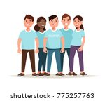 vector illustration team of... | Shutterstock .eps vector #775257763
