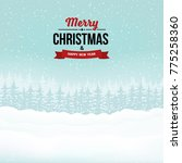 merry christmas and happy new... | Shutterstock .eps vector #775258360