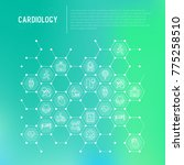cardiology concept in... | Shutterstock .eps vector #775258510