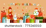 gift boxes. presents isolated ... | Shutterstock .eps vector #775260310