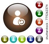 undo user account changes white ... | Shutterstock .eps vector #775262374