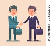 two business man shake hands... | Shutterstock .eps vector #775262710