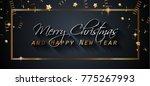 2018 happy new year background... | Shutterstock . vector #775267993