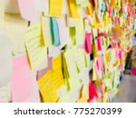 colorful sticky note or paper... | Shutterstock . vector #775270399