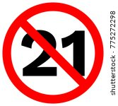 under twenty one prohibition... | Shutterstock .eps vector #775272298