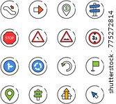 line vector icon set  ... | Shutterstock .eps vector #775272814