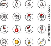 line vector icon set   cafe... | Shutterstock .eps vector #775273270