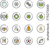 line vector icon set  ... | Shutterstock .eps vector #775273300