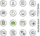 line vector icon set   passport ... | Shutterstock .eps vector #775273444