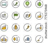 line vector icon set  ... | Shutterstock .eps vector #775273468