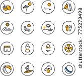 line vector icon set   coconut... | Shutterstock .eps vector #775273498