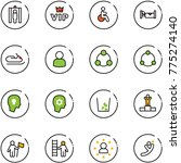 line vector icon set   metal... | Shutterstock .eps vector #775274140