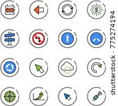 line vector icon set   sign... | Shutterstock .eps vector #775274194