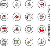 line vector icon set   cafe... | Shutterstock .eps vector #775274248