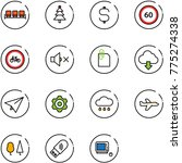 line vector icon set   waiting... | Shutterstock .eps vector #775274338