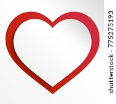 colorful heart vector graphic... | Shutterstock .eps vector #775275193