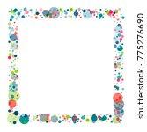 festive confetti frame or... | Shutterstock .eps vector #775276690