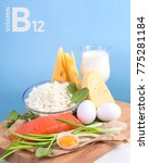 products vitamin b12  cobalamin ... | Shutterstock . vector #775281184