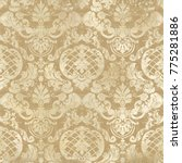 vector illustration. damask... | Shutterstock .eps vector #775281886