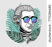 hipster portrait of composer...   Shutterstock .eps vector #775286680