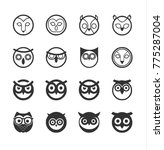 owls icons set. vector... | Shutterstock .eps vector #775287004