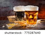 two big glasses with freshly... | Shutterstock . vector #775287640