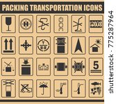packing symbols icons marks for ... | Shutterstock .eps vector #775287964