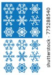 illustration of snowflake icons ... | Shutterstock .eps vector #775288540