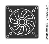 exhaust fan glyph icon.... | Shutterstock . vector #775292374