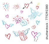 icon set love and heart | Shutterstock .eps vector #775292380