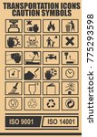 caution icons symbols marks for ... | Shutterstock .eps vector #775293598