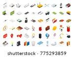 big set of isometric volumetric ... | Shutterstock .eps vector #775293859
