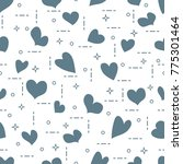 cute seamless pattern with... | Shutterstock .eps vector #775301464