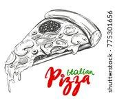 italian pizza slice   pizza...   Shutterstock .eps vector #775301656